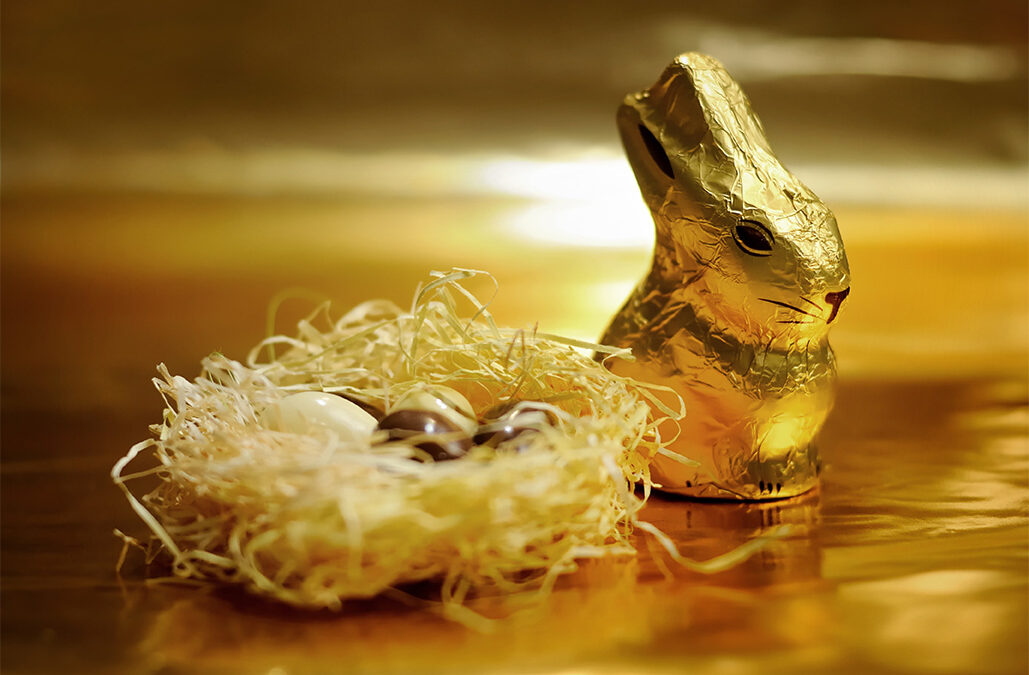 There can be only one … gold chocolate bunny